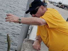 Seniors of Cabot Cove of Largo Assisted Living Having Fun Fishing