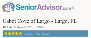 Senior Advisor Cabot Cove of Largo Assisted Living Rating
